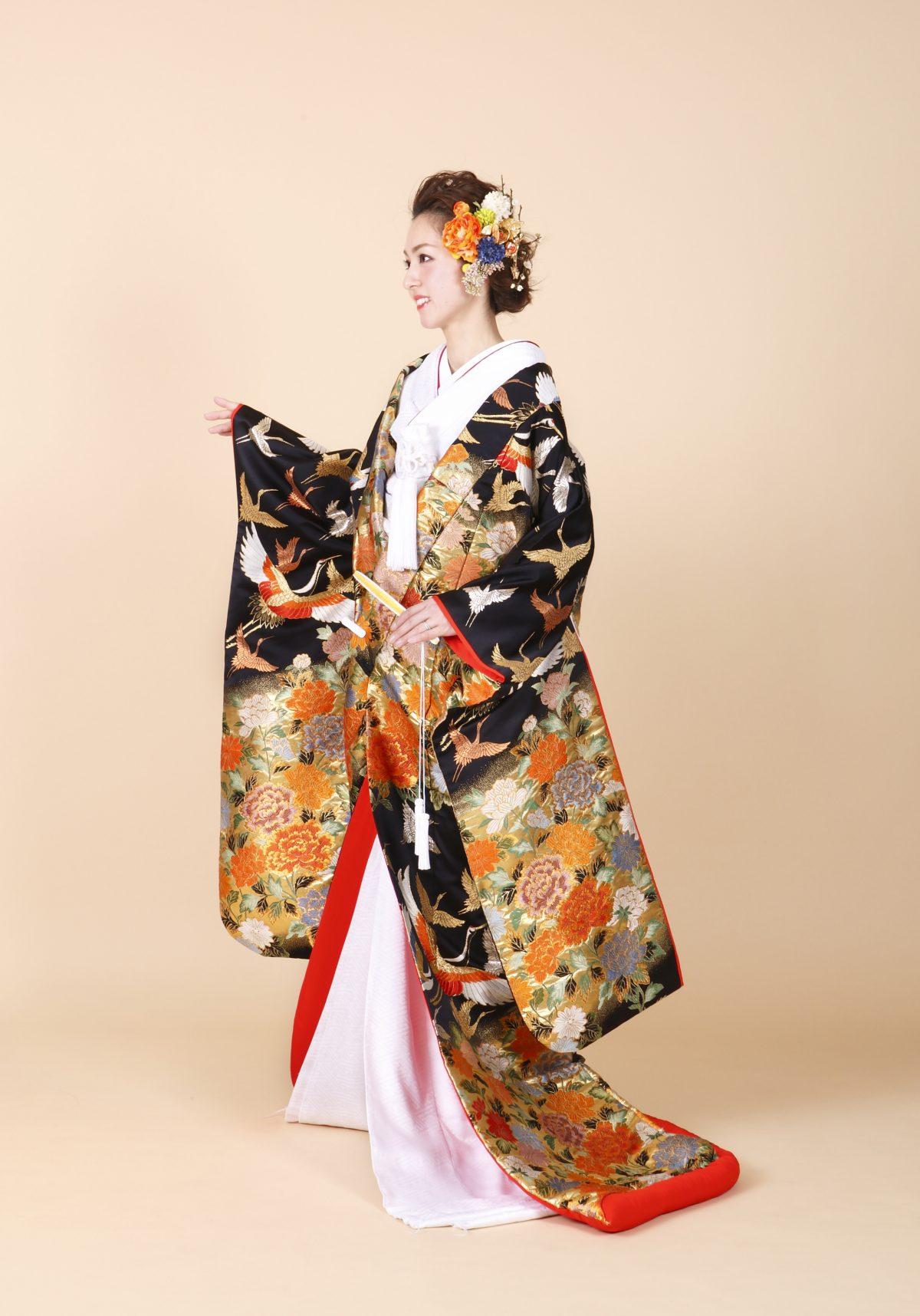 群鶴牡丹菊